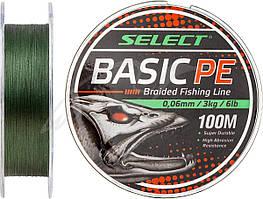Шнур Select Basic PE 100m (темн-зел.) 0.08mm 8LB/4kg