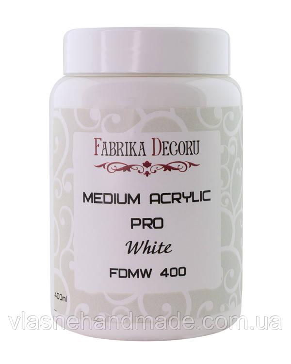 Медіум акриловий - білий - Fabrika Decoru - 400 мл.