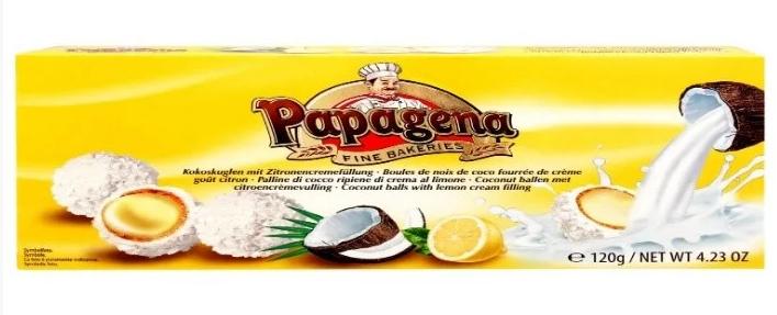 Вафельні кульки PAPAGENA, з лимонним кремом, 120г, фото 2