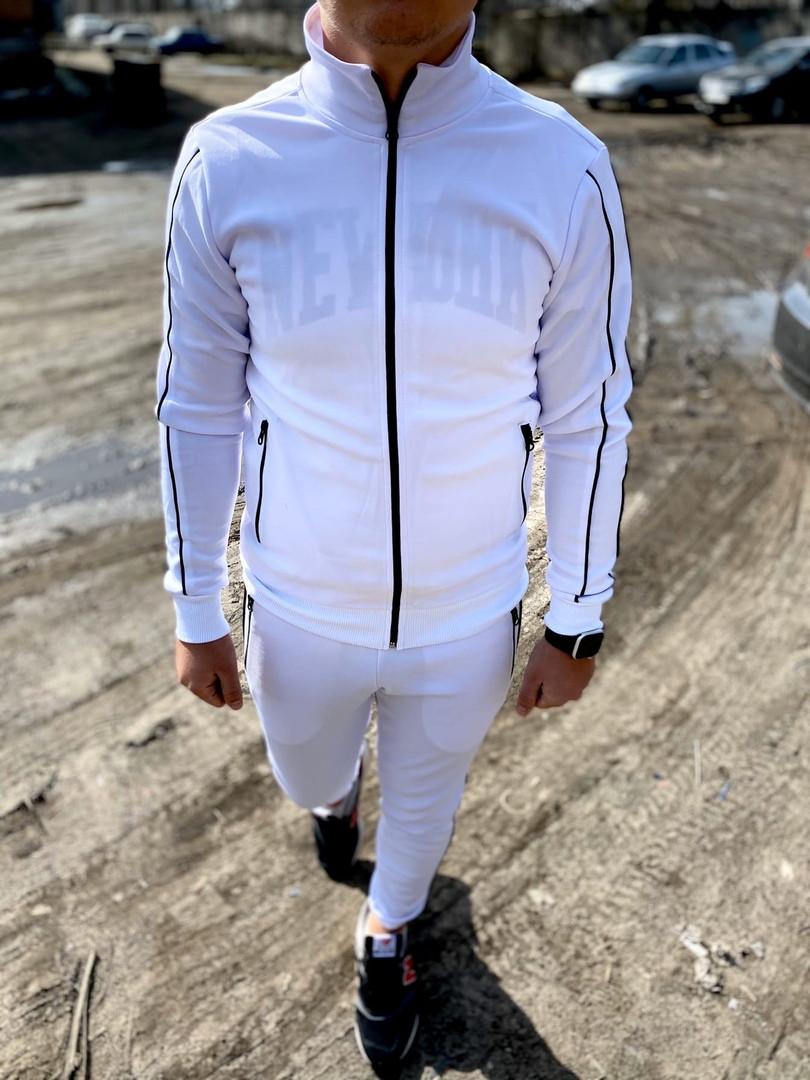Мужской спортивный костюм Двойка (белый)