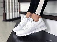 Женские кроссовки в стиле New Balance 574, кожа, пена, белые 40 (25,5 см)