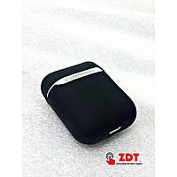 Силиконовый чехол, оригинальный, Soft Touch- для Air Pods -черный 811215