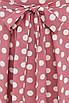 Довге розкльошені рожеве плаття в горох з запахом, фото 3