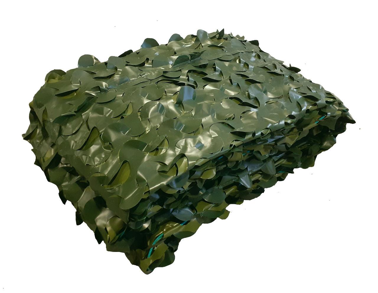 Сітка маскувальна двостороння Camonet Зелена двоколірна  PE