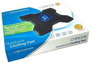 """Охлаждающая подставка для ноутбука 15.6"""" Esperanza EA109 Chi, порт USB, вентилятор, 365х290х54 мм, 640 г, фото 3"""