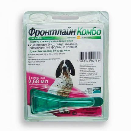 Краплі Boehringer Ingelheim Фронтлайн Комбо від бліх та кліщів для собак, L, 20-40 кг, фото 2