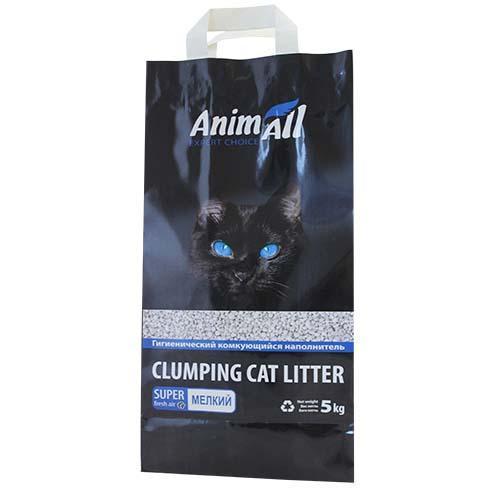 Бентонитовый наполнитель AnimAll для котов, мелкая фракция, 5 кг