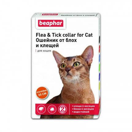 Ошейник Beaphar против блох и клещей для кошек, оранжевый, 35 см, фото 2
