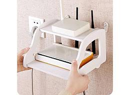Полка подвесная для роутера, телефона HMD Белая (154-15122398)