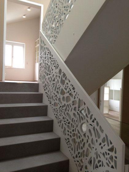 Різьблені огорожі сходів, перила для сходів з МДФ 032 мазайка