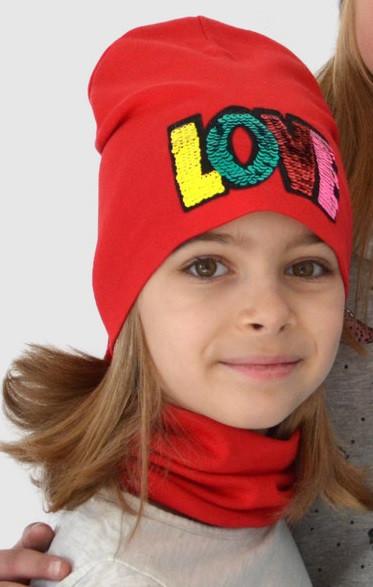 Весенняя шапка и хомут для девочки