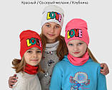 Весенняя шапка и хомут для девочки, фото 3