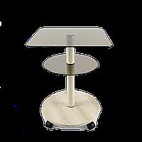 Стол журнальный квадратный Commus Bravo Light 400 Kv6 bronza-pepel-bg50
