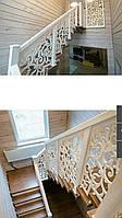 Різьблені огорожі сходів, перила для сходів з МДФ