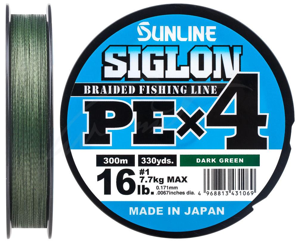 Шнур Sunline Siglon PE х4 150m (темн-зел.) #0.5/0.121mm 8lb/3.3kg