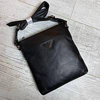 Мужская кожаная сумка через плечо Armani, фото 1