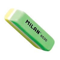 """CPM6030 Гумка прямокут. двокольорова з фаскою """"TM MILAN"""" 5,6*1,5*1,2см"""