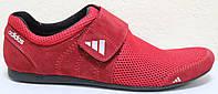 Кроссовки сетка красные мужские на липучке от производителя модель ЛМ101-1