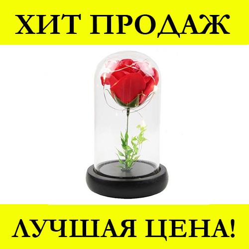 Роза в колбе с LED маленькая (Красная, розовая, синяя)