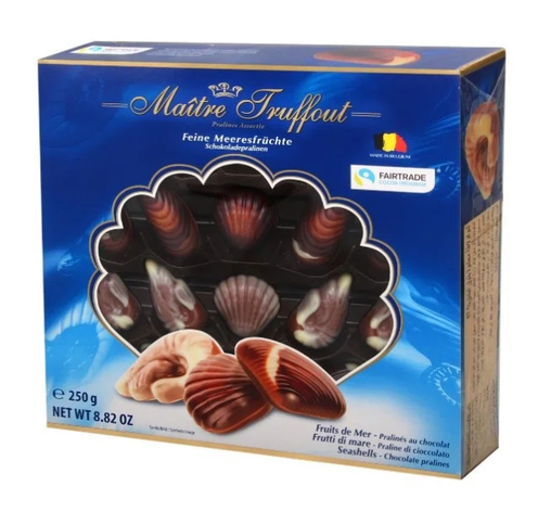 Цукерки Maitre Truffout, sea shells BLUE, праліне, 250г, фото 2
