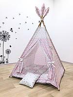 """Детский вигвам , домик, палатка для игры """" Папина принцесса """" , четырехгранный"""