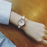 Жіночий  кварцовий водонепроникний наручний годинник високої якості Relogio з шкіряним білим ремінцем