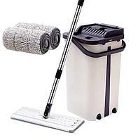 Швабра лентяйка и ведро с автоматическим отжимом  Spin Mop NEW , комплект швабра+ведро, фото 1