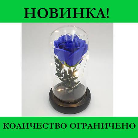 Роза в колбе с LED маленькая (Красная, розовая, синяя), фото 2