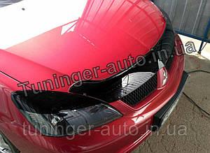 Реснички на фары Mitsubishi Lancer 9 2003-2009 (Anv)