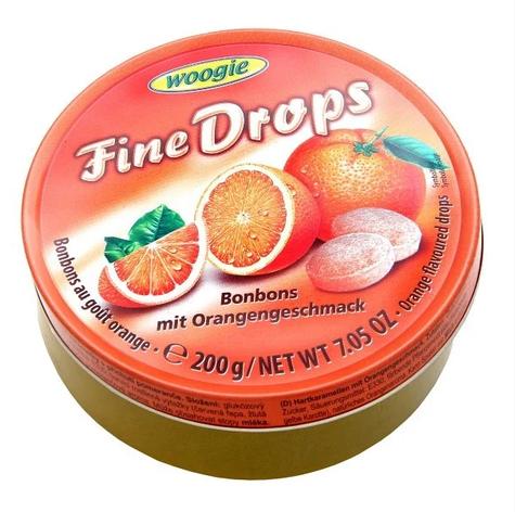 Льодяники Woogie, FINE DROPS з апельсиновим смаком, 200г, фото 2