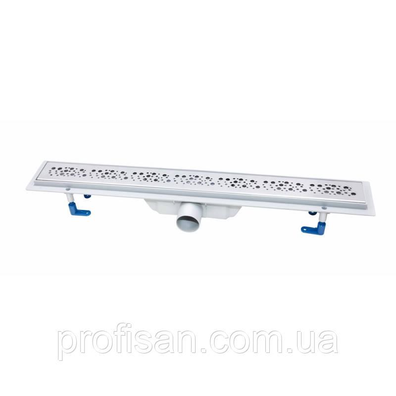Трап линейный Qtap Dry FC304-900 с нержавеющей решеткой 900х73