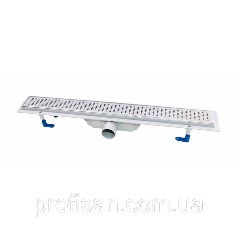 Трап линейный Qtap Dry FB304-600 с нержавеющей решеткой 600х73