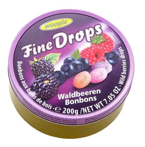 Льодяники Woogie, FINE DROPS, лісові ягоди, 200г,, фото 2