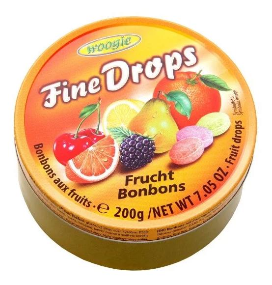 Льодяники Woogie, FINE DROPS, фруктовий мікс, 200г