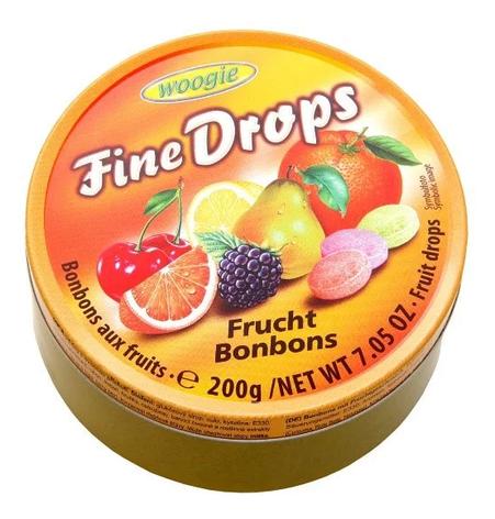 Льодяники Woogie, FINE DROPS, фруктовий мікс, 200г, фото 2