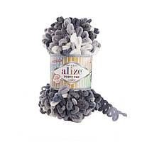 Турецкая фантазийная пряжа Puffy fine color Alize 5925