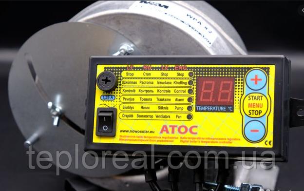 Комплект автоматики для твердопаливного котла АТОЅ + WPA-Х2 з діафрагмою (Польща)