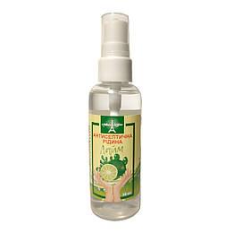 Антисептическая жидкость для рук с ароматом лайма спрей 50 мл