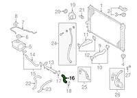 Шланг радиатора к водяному насосу (помпе) прав. Ланос, NEXIA 1,5-1,6 ALL KAP/TOPIC Корея