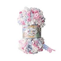 Турецкая фантазийная пряжа Puffy fine color Alize 5945