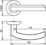 Ручка роздільна Punto (Пунто) ALFA TL, фото 2