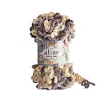 Турецкая фантазийная пряжа Puffy fine color Alize 6034