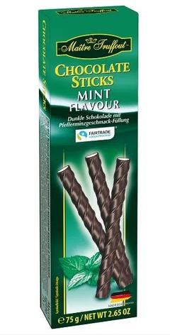 Палички шоколадні Maitre Truffout, м'ята, 75г, фото 2