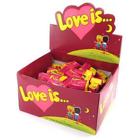 """Жувальна гумка вишня-лимон """"LOVE IS..."""" любов це... блок 100шт"""