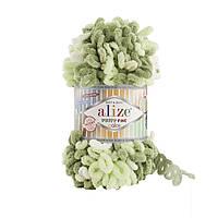 Турецкая фантазийная пряжа Puffy fine color Alize 6068