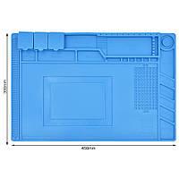 Силиконовый термостойкий коврик для пайки S-160 (45см на 30см)