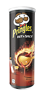 Чіпси Pringles Hot & Spicy, гострі спеції, 165г