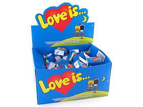 """Жувальна гумка банан-полуниця """"LOVE IS..."""" любов це... блок 100шт"""