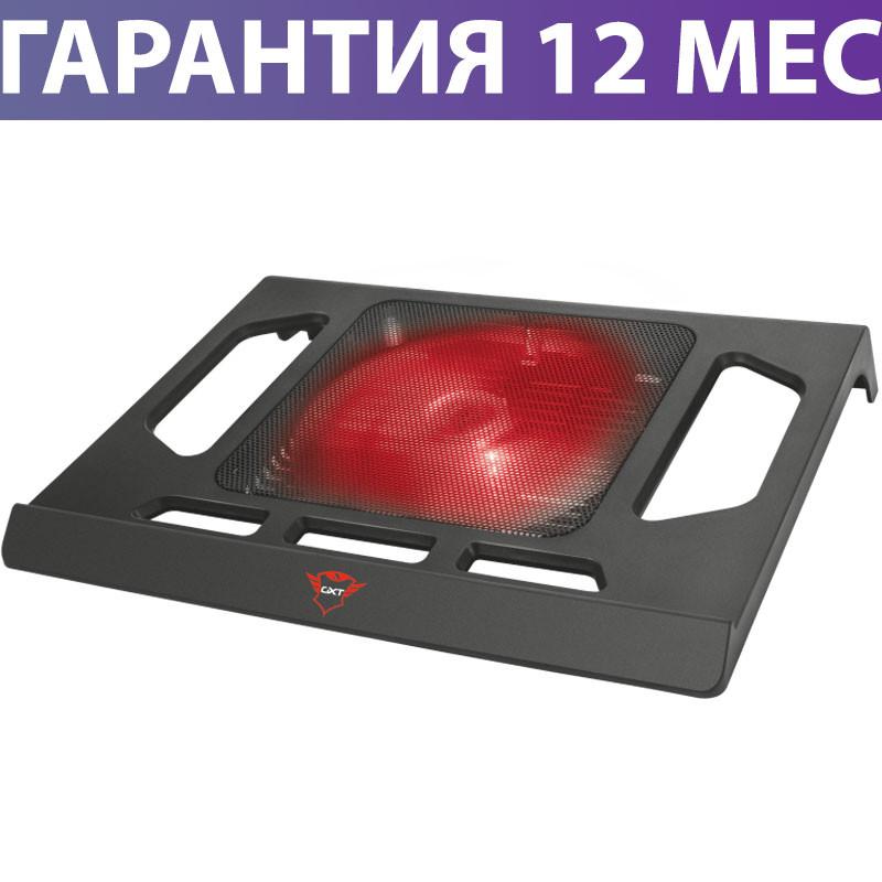 """Охлаждающая подставка для ноутбука 17.3"""" Trust GXT 220 Kuzo, Black, вентилятор, подсветка, 350х293х49 мм"""