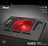 """Охлаждающая подставка для ноутбука 17.3"""" Trust GXT 220 Kuzo, Black, вентилятор, подсветка, 350х293х49 мм, фото 4"""